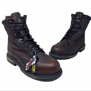 Rocky Mens Ironclad Work Boots Brown Lace Up NEW